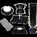 Dakdoorvoer Ø150/200mm voor EPDM dak (zwart)