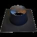 Dakplaat voor dubbelwandig Ø150/200mm – plat 0-10° (zwart)