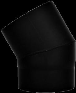 Dikwandige bocht Ø130mm – 30° (zwart)