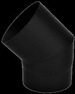 Dikwandige bocht Ø150mm – 45° (zwart)