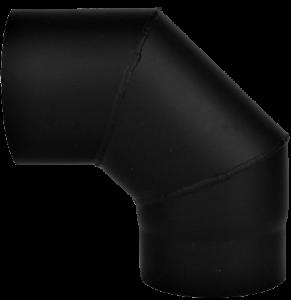 Dikwandige bocht Ø130mm – 90° (zwart)