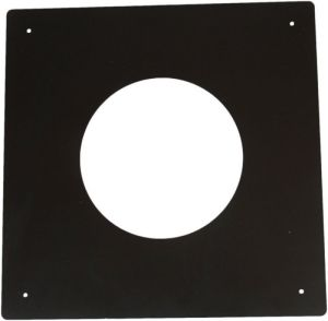 Brandseparatieplaat voor dubbelwandig Ø150/200mm (zwart)