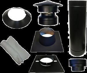 Dakdoorvoer Ø150/200mm voor bitumen dak (zwart)