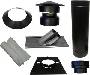 Dakdoorvoer Ø150/200mm voor pannendak (zwart)