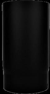 Dikwandige pijp Ø130mm – 25cm (zwart)