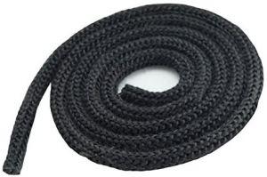 Glasvezelkoord zwart – Ø6mm (per meter)
