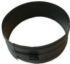 Klemband voor dubbelwandig Ø150/200mm (zwart)