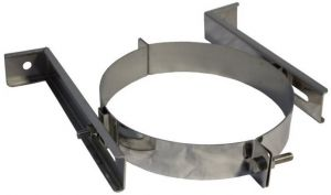 Muurbeugel voor dubbelwandig Ø150/200mm - verstelbaar