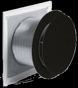 Luchttoevoer set push & pull Ø125mm (zwart)
