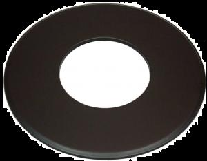 Dikwandig rozet Ø150mm – 9cm (zwart)