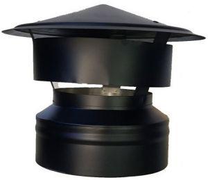 Dubbelwandige trekkap Ø150/200mm (zwart)