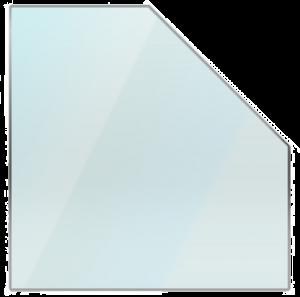 Vijfkante glazen vloerplaat 80 x 80 cm