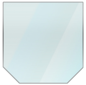 Zeskante glazen vloerplaat 80 x 80 cm